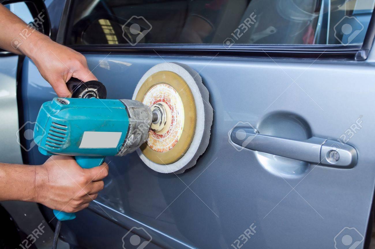 Polieren Der Autos Mit Strom Puffer Maschine Car Care Bilder