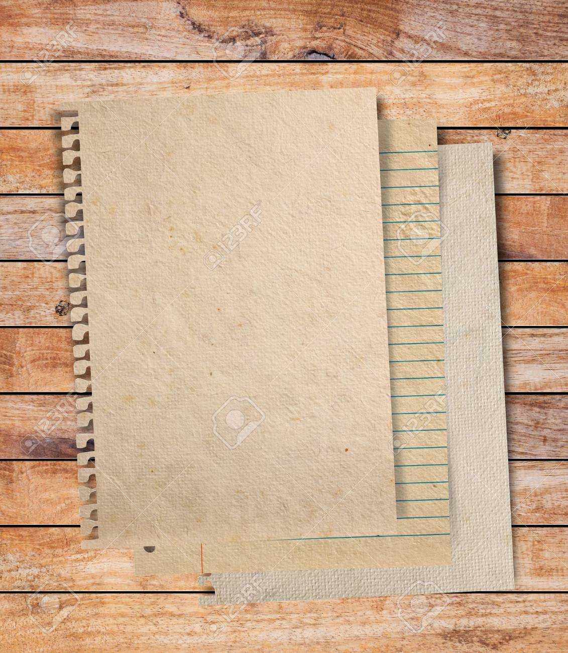Paper texture - brown paper sheet on wood background Stock Photo - 16850791