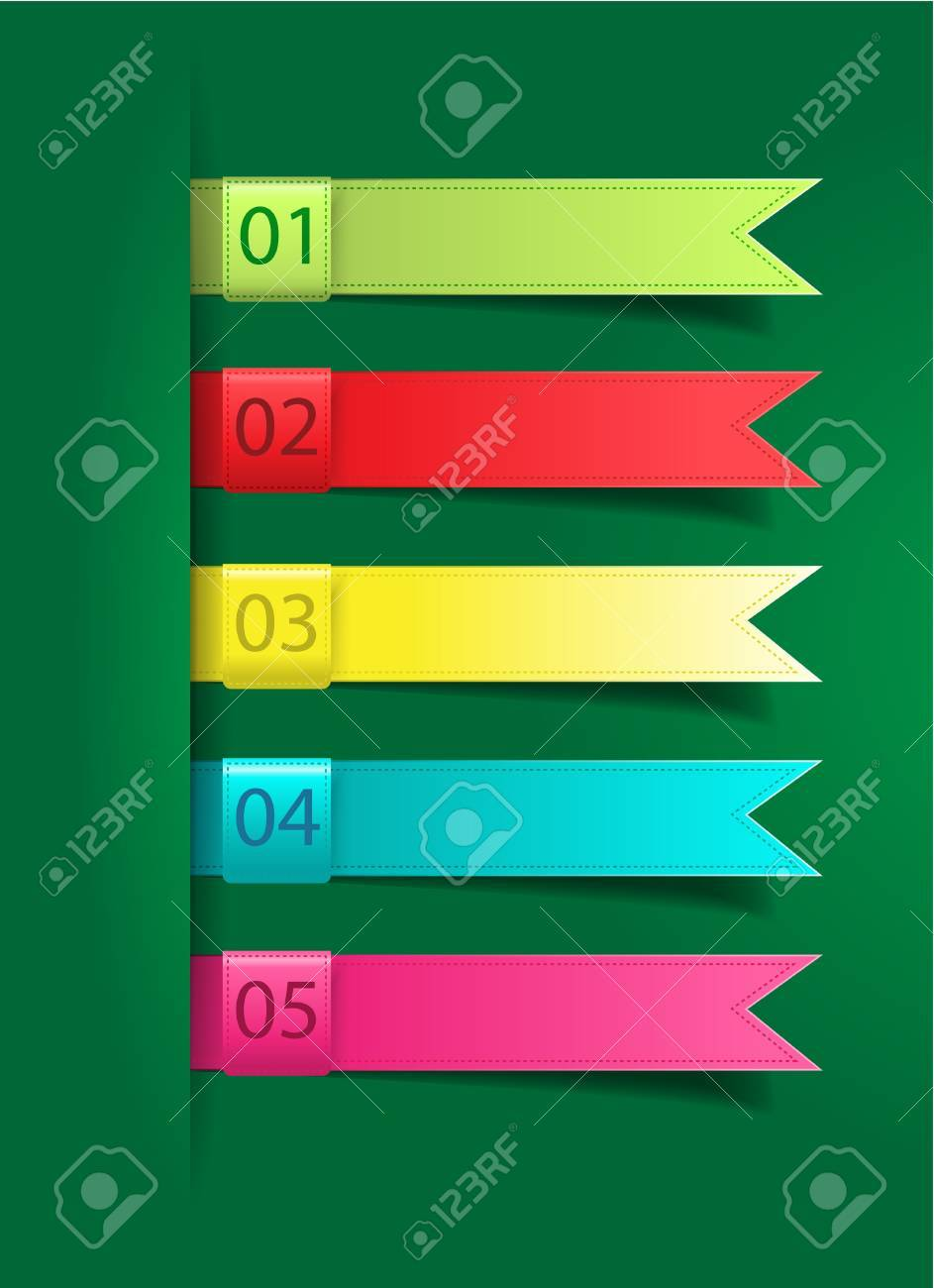Colorful presentations with letters numbers, Vector illustration Stock Vector - 17451751