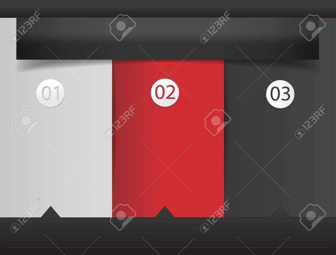 modern design template infographics numbered banners vector