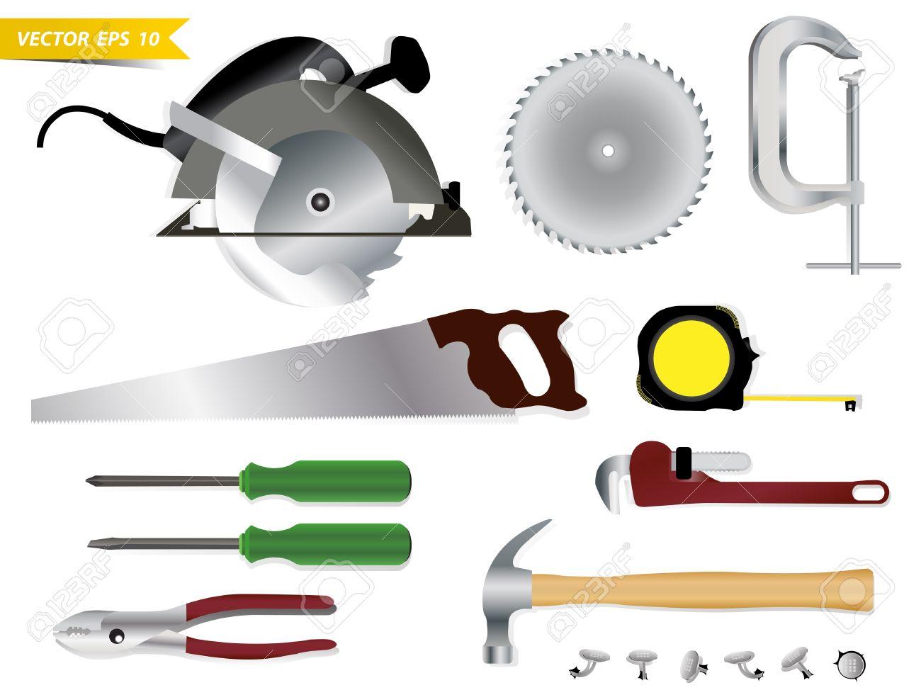 Carpentry Tools Vector Template Design