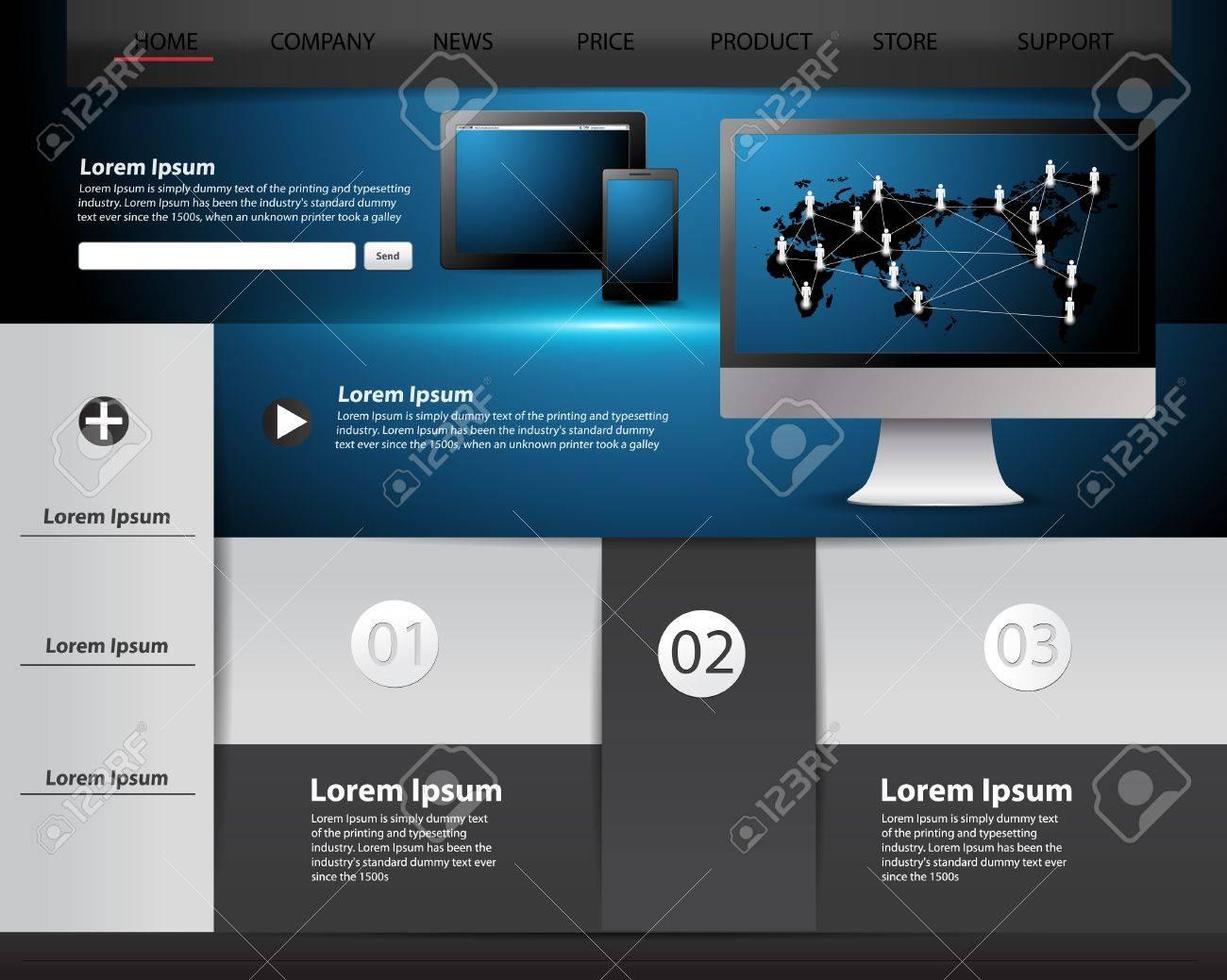 Modern Website Template Design, Infographics And Information ...