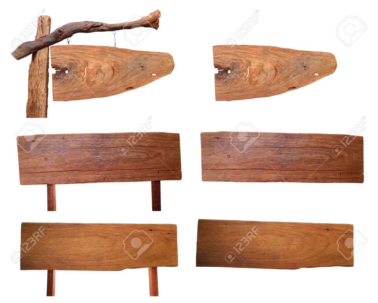 wood sign isolated on background, With objects with clipping paths for design work Stock Photo - 19957795