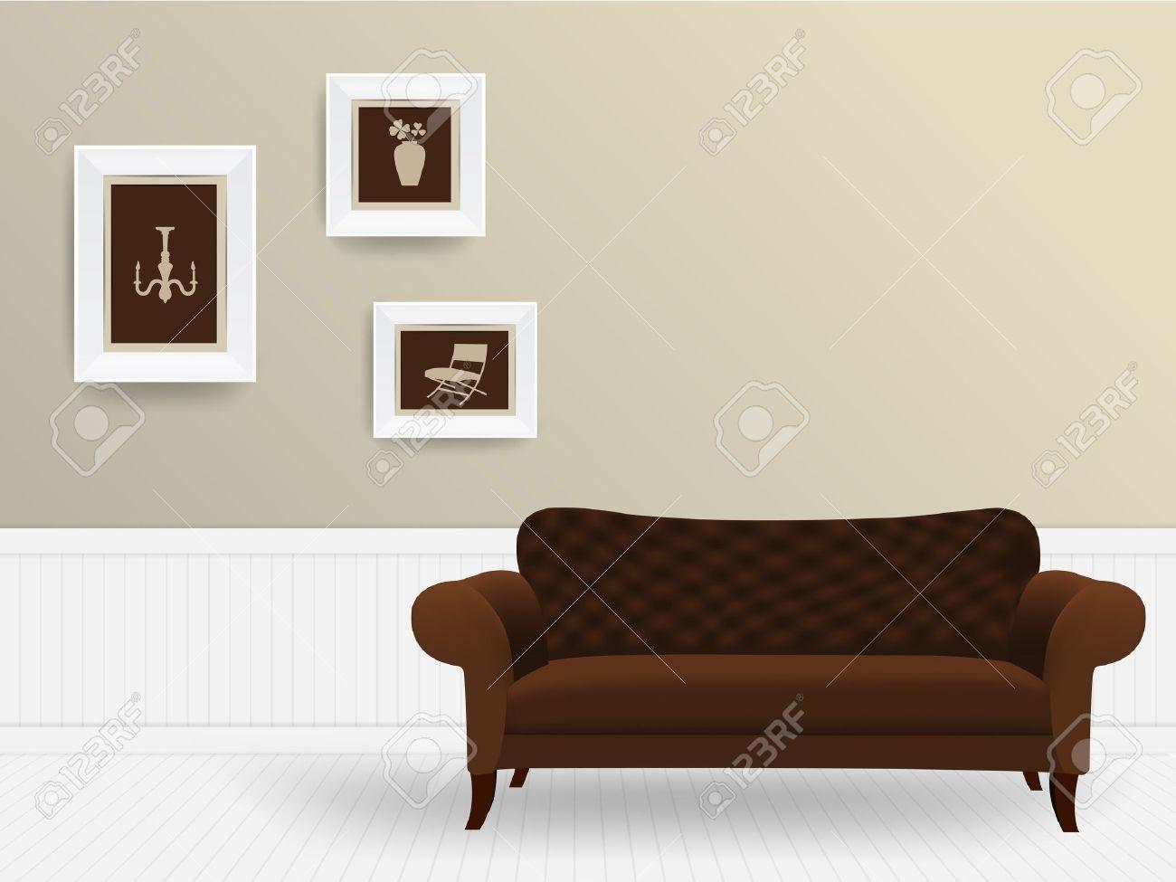 living room interior concept vector illustration modern template