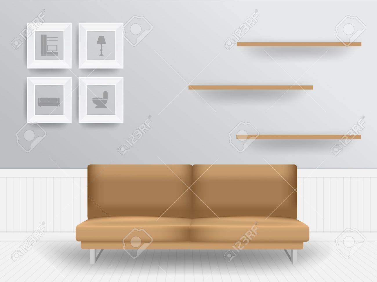 Living Room Furniture Templates living room interior concept, vector illustration modern template