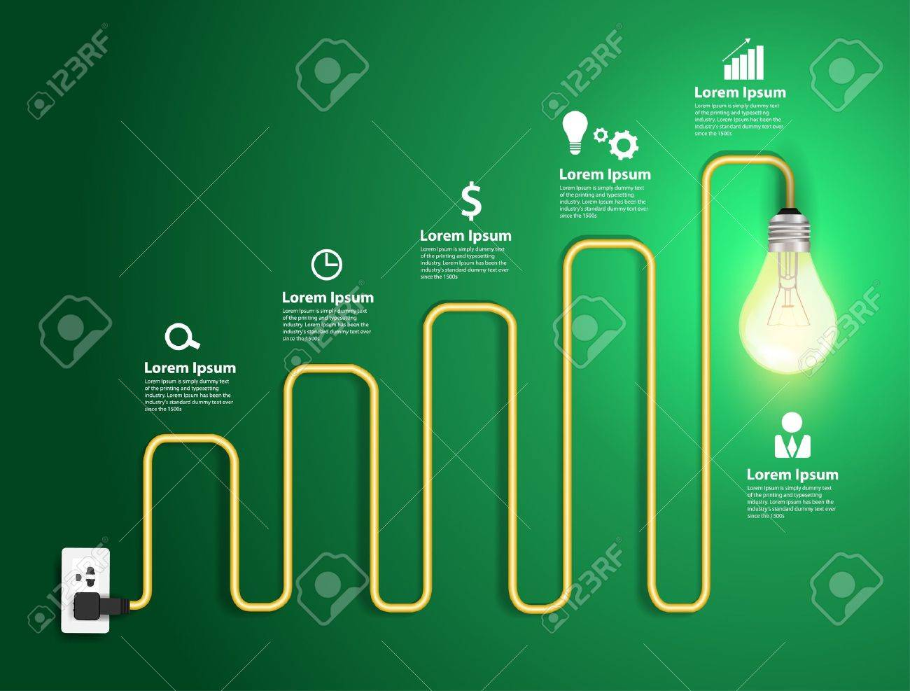 12 957 plug wires stock illustrations cliparts and royalty plug wires creative light bulb abstract charts and graphs modern design template workflow layout