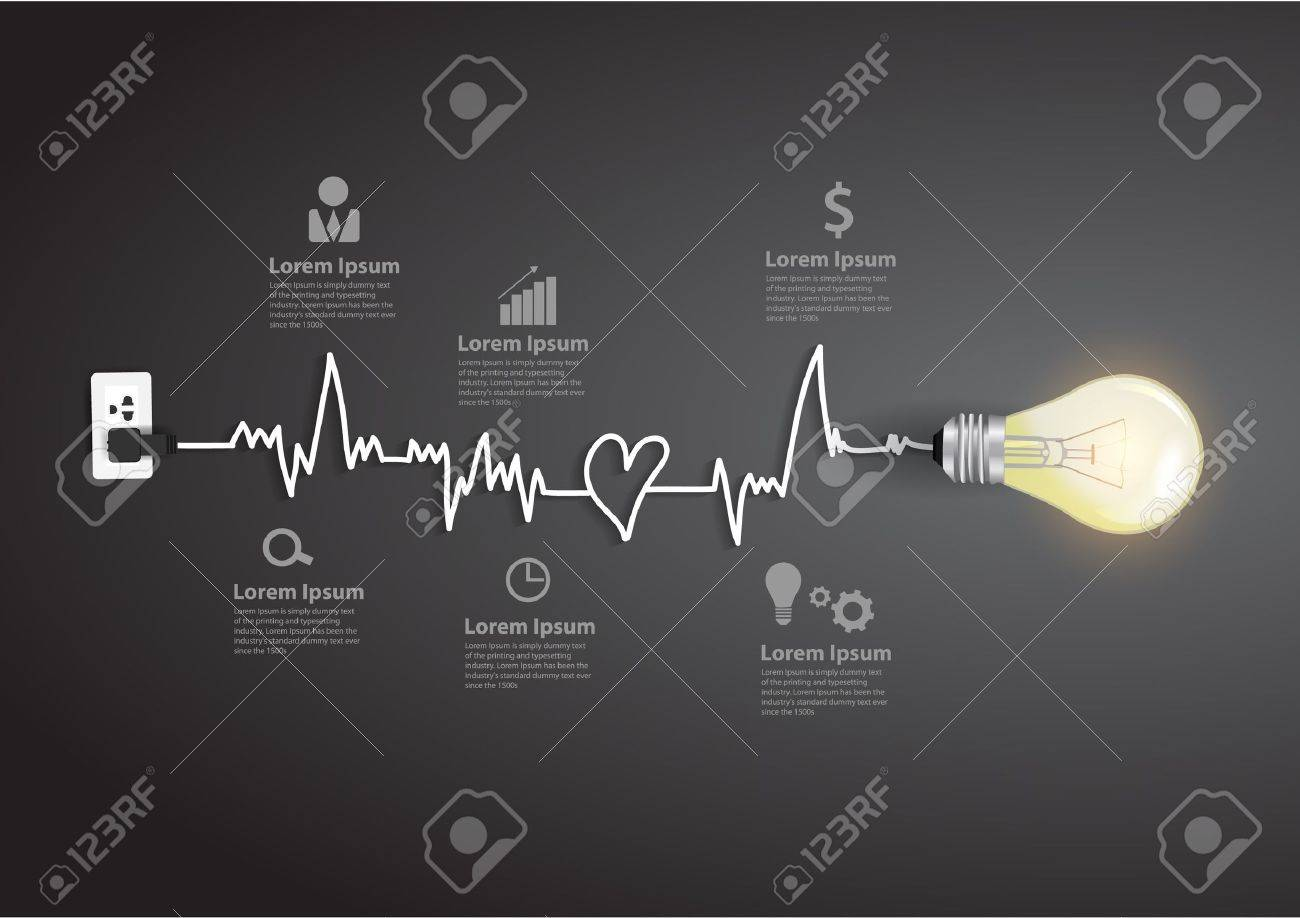 Creative light bulb abstract infographic modern design template workflow layout, diagram, step up options Stock Vector - 21725140