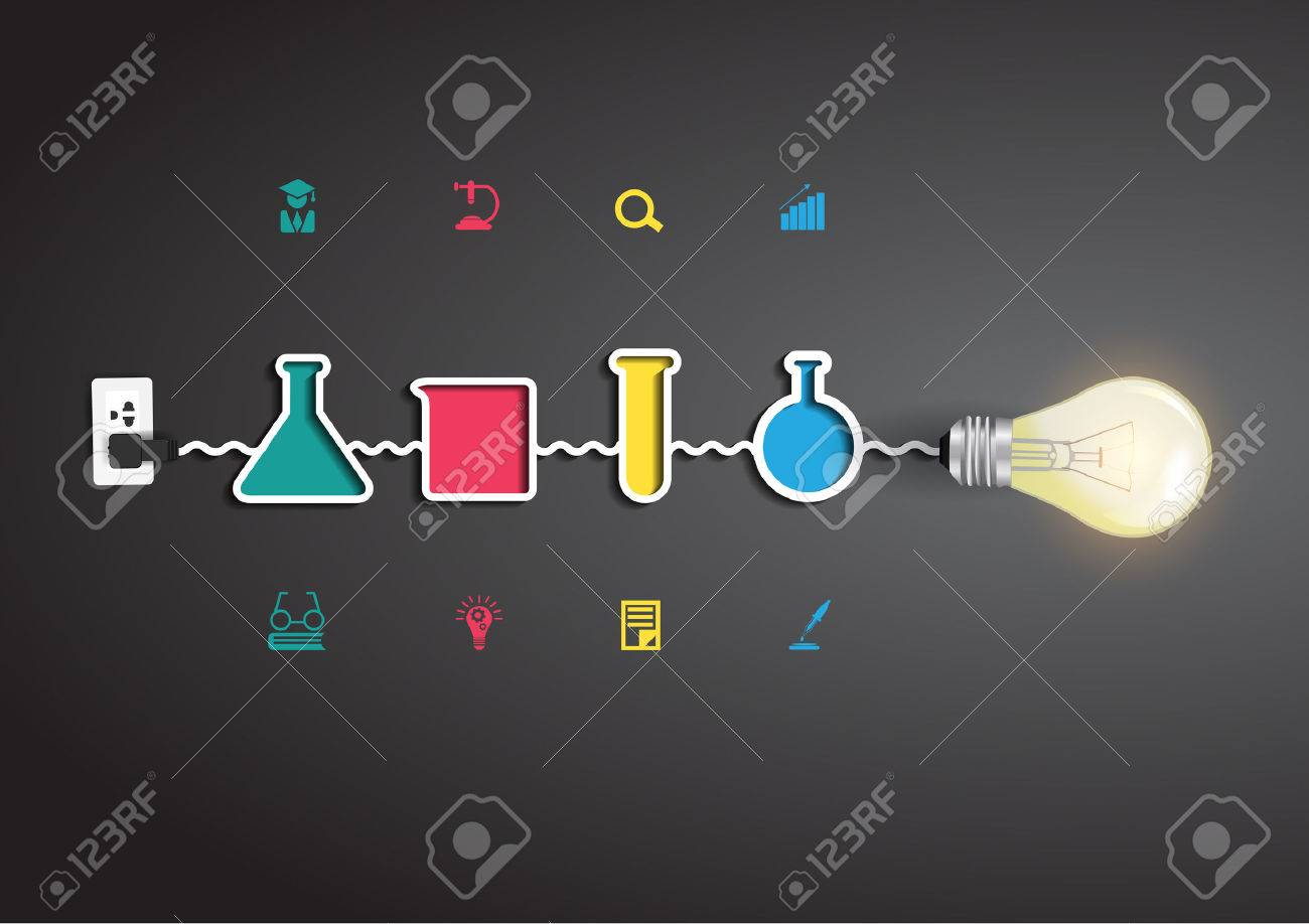 Vector creative light bulb idea with chemistry and science icon vector creative light bulb idea with chemistry and science icon education concept stock vector 22964510 ccuart Images