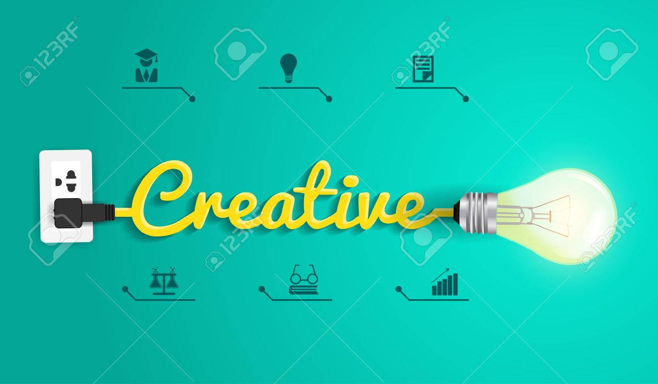 Creative Concept Modern Design Template Light Bulb Idea Abstract Diagram Of Incandescent Infographic Workflow Layout