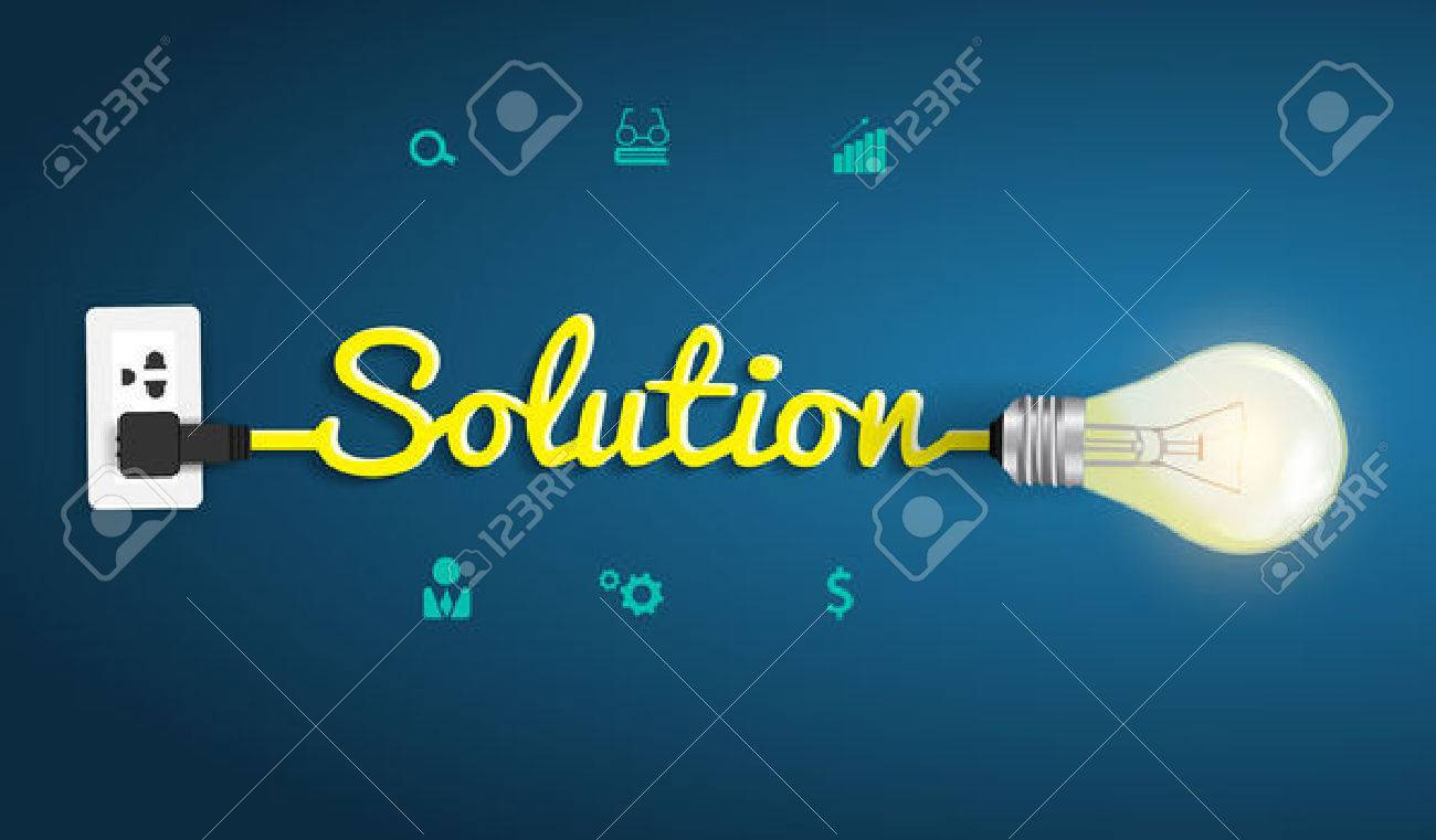 Solution concept modern design template, Creative light bulb idea abstract infographic workflow layout, diagram, step up options, Vector illustration - 22964178