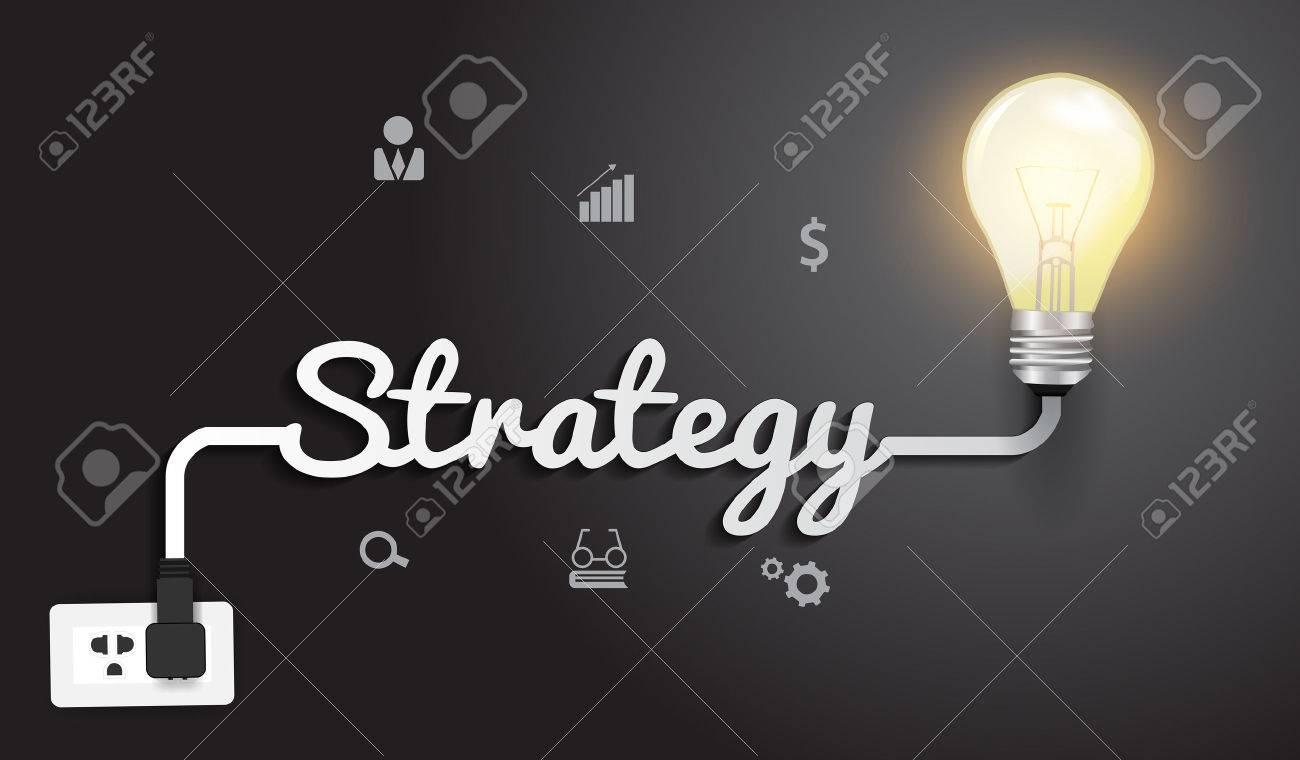 creative lighting design. Strategy Concept With Creative Light Bulb Idea Modern Design Template, Vector Illustration Stock - Lighting