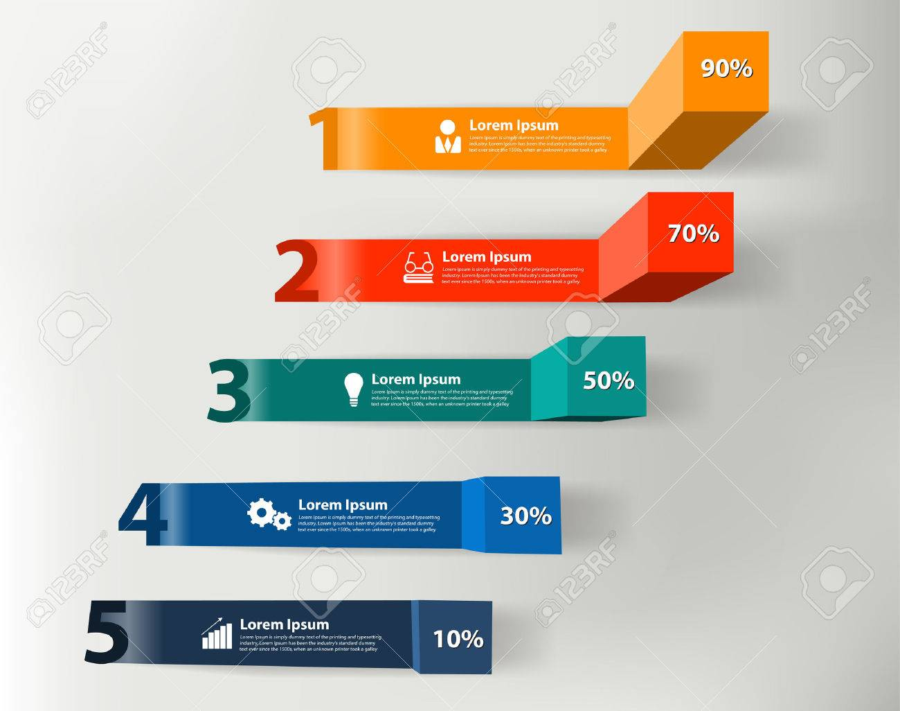 Modern Business Steps To Success Charts And Graphs Options Info ...
