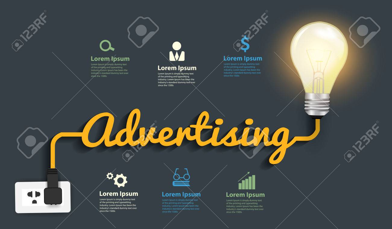 Diagram Of Incandescent Light Bulb Advertising Concept Creative Idea Abstract Infographic Layout Step Up Options