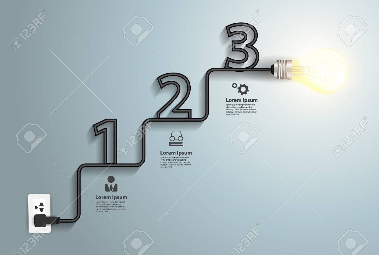 Creative Light Bulb Idea Abstract Infographic, Inspiration Concept ...