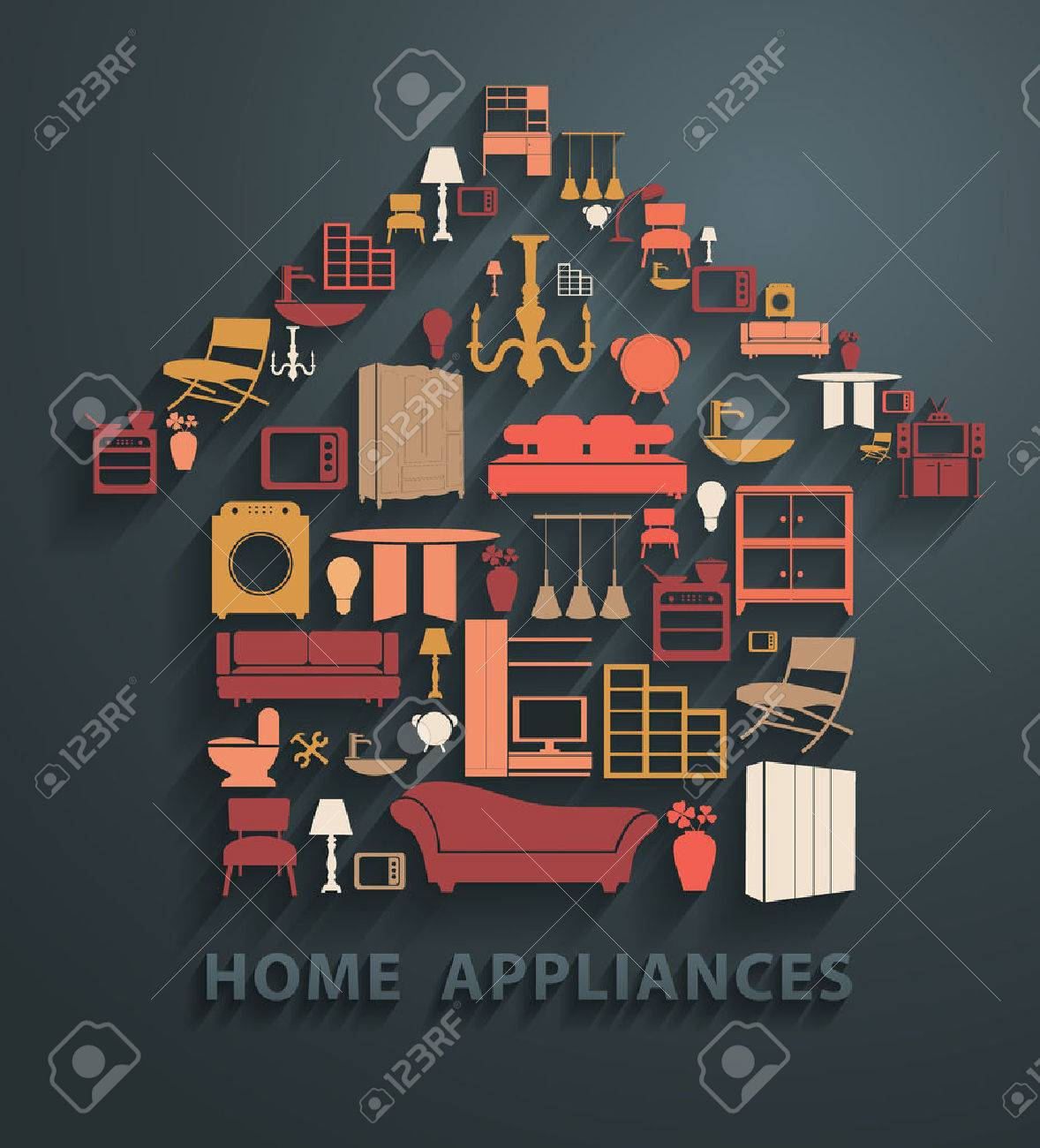 Flat Design Concepts Home Appliances Icons, Vector Illustration Modern  Template Design Stock Vector   35610714