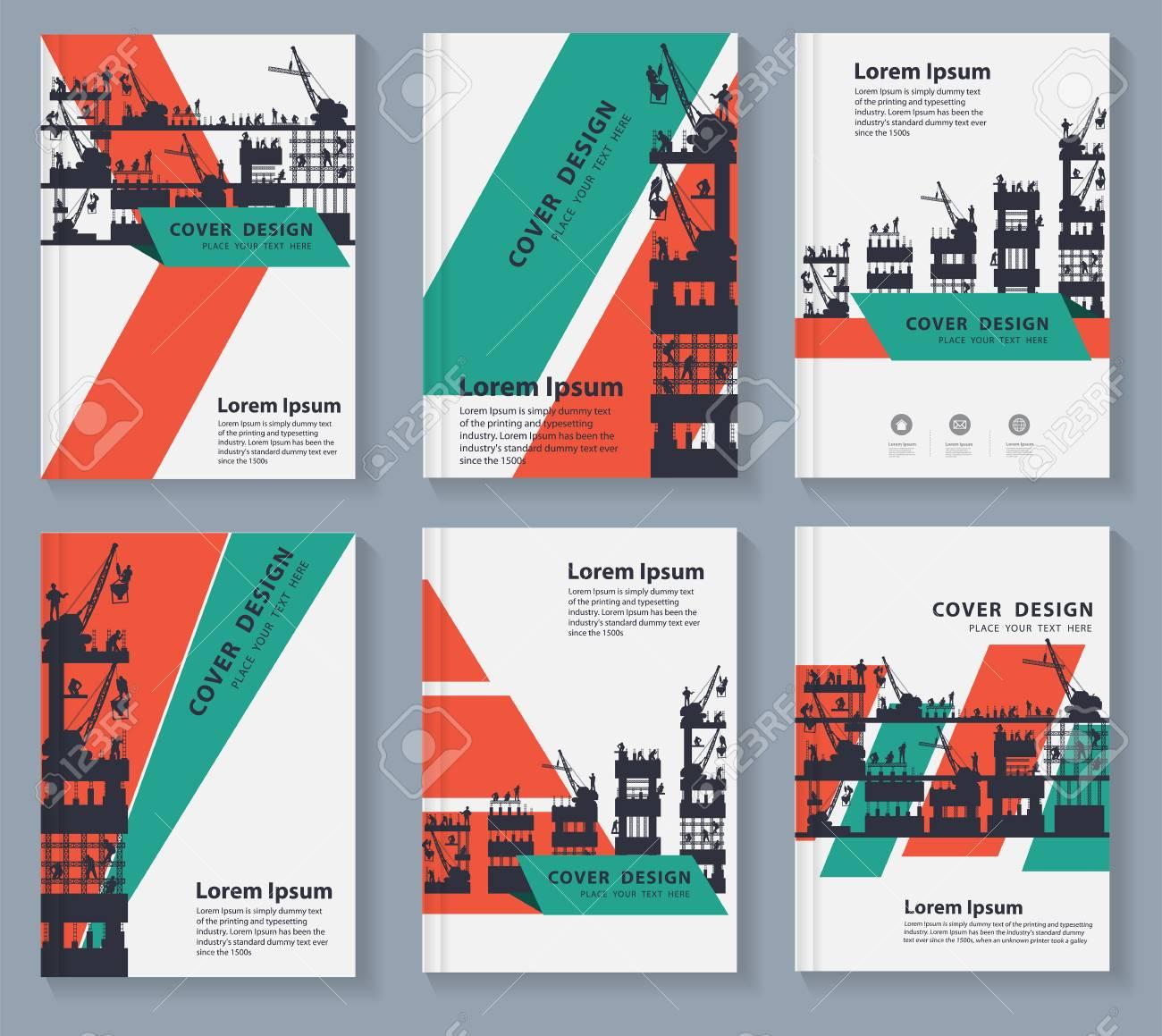 Business magazine cover  Brochure design template vector  Square