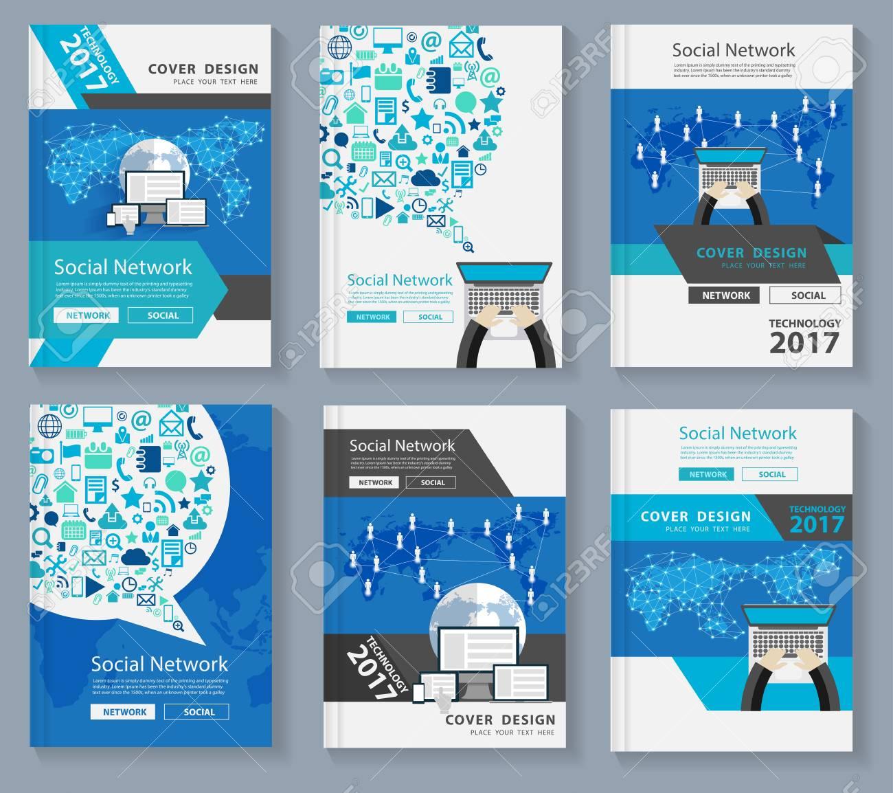 Diseño de portada de revista de negocios con tecnología de innovación 75e9470b99348