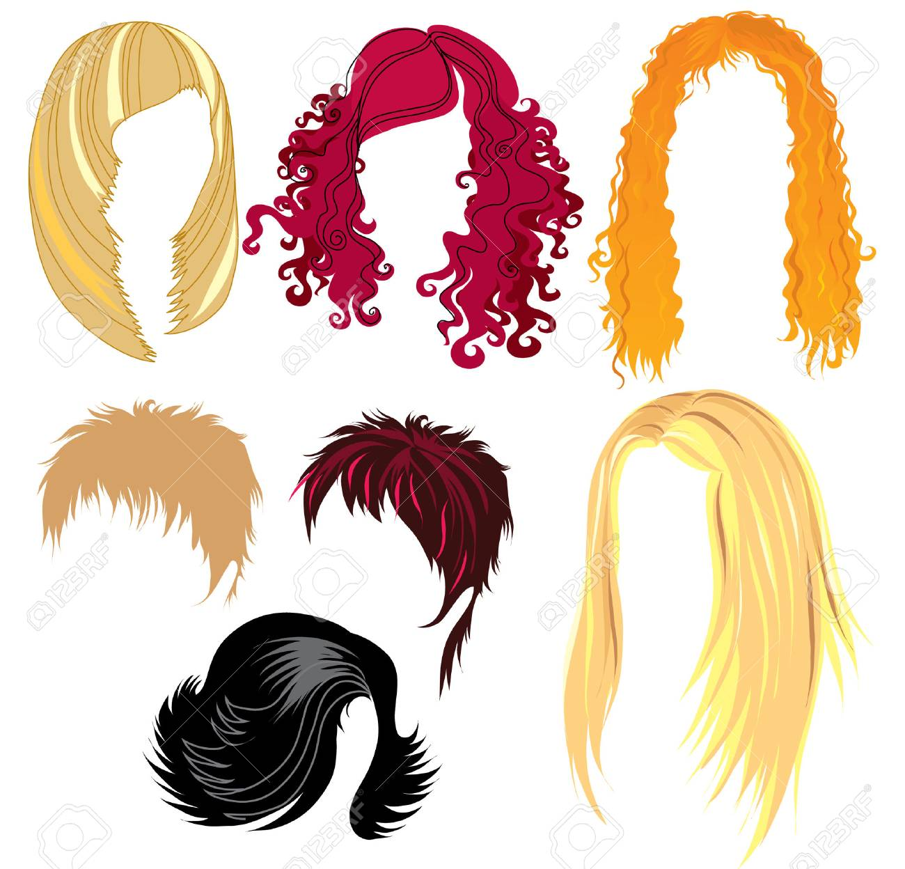 Set of hair styling Stock Vector - 4311383