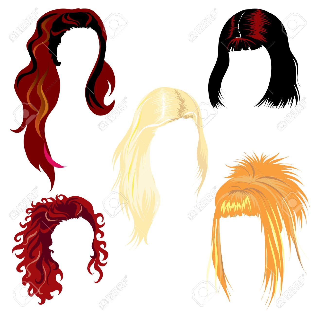 Set of hair styling Stock Vector - 4311469