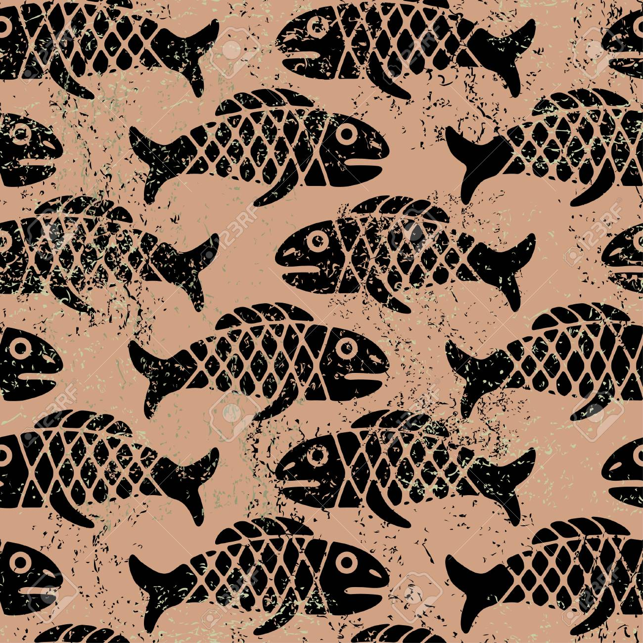 Seamless Mexican pattern with fish Stock Vector - 5072364