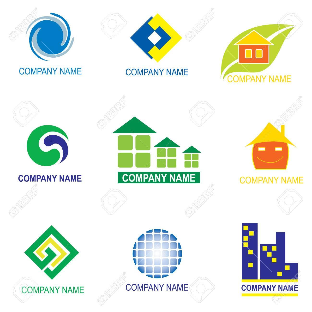set of logo design - real estate Stock Vector - 5144877
