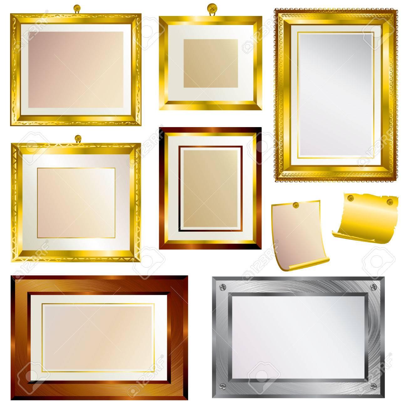 big set of vintage beautiful frames stock vector 5163786