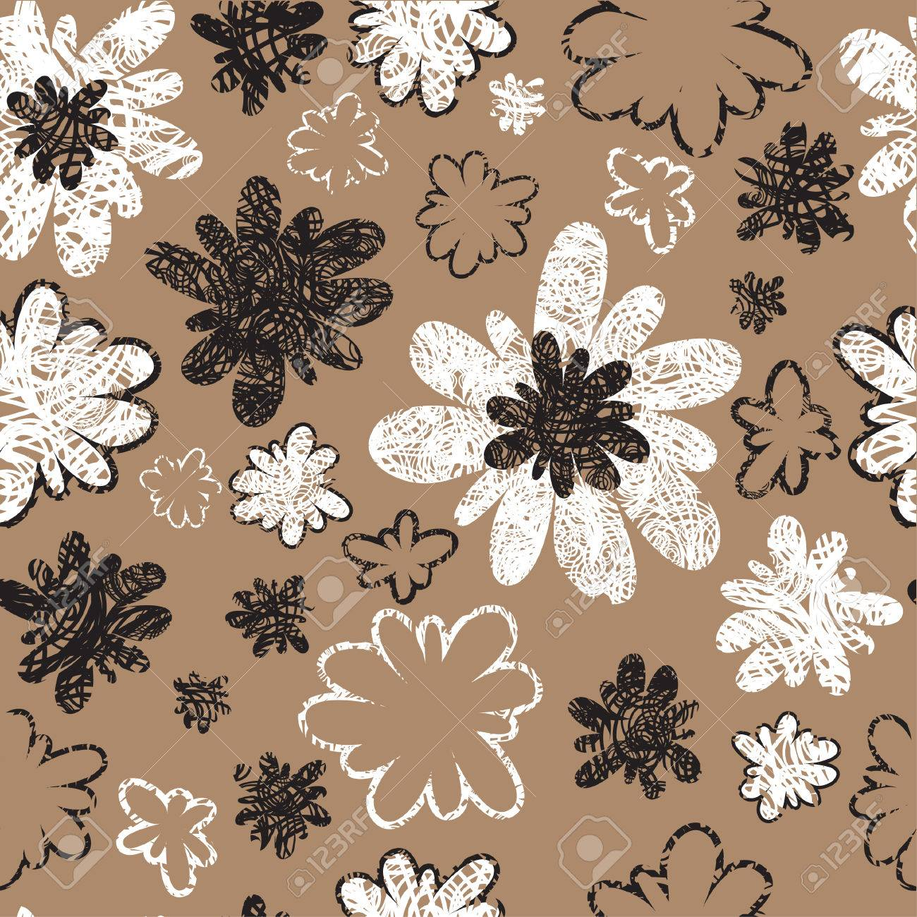 Seamless vintage grunge floral pattern (From my big Stock Vector - 5733163