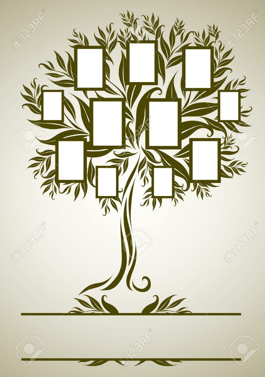 Perfecto Marcos árbol De Familia Molde - Ideas Personalizadas de ...