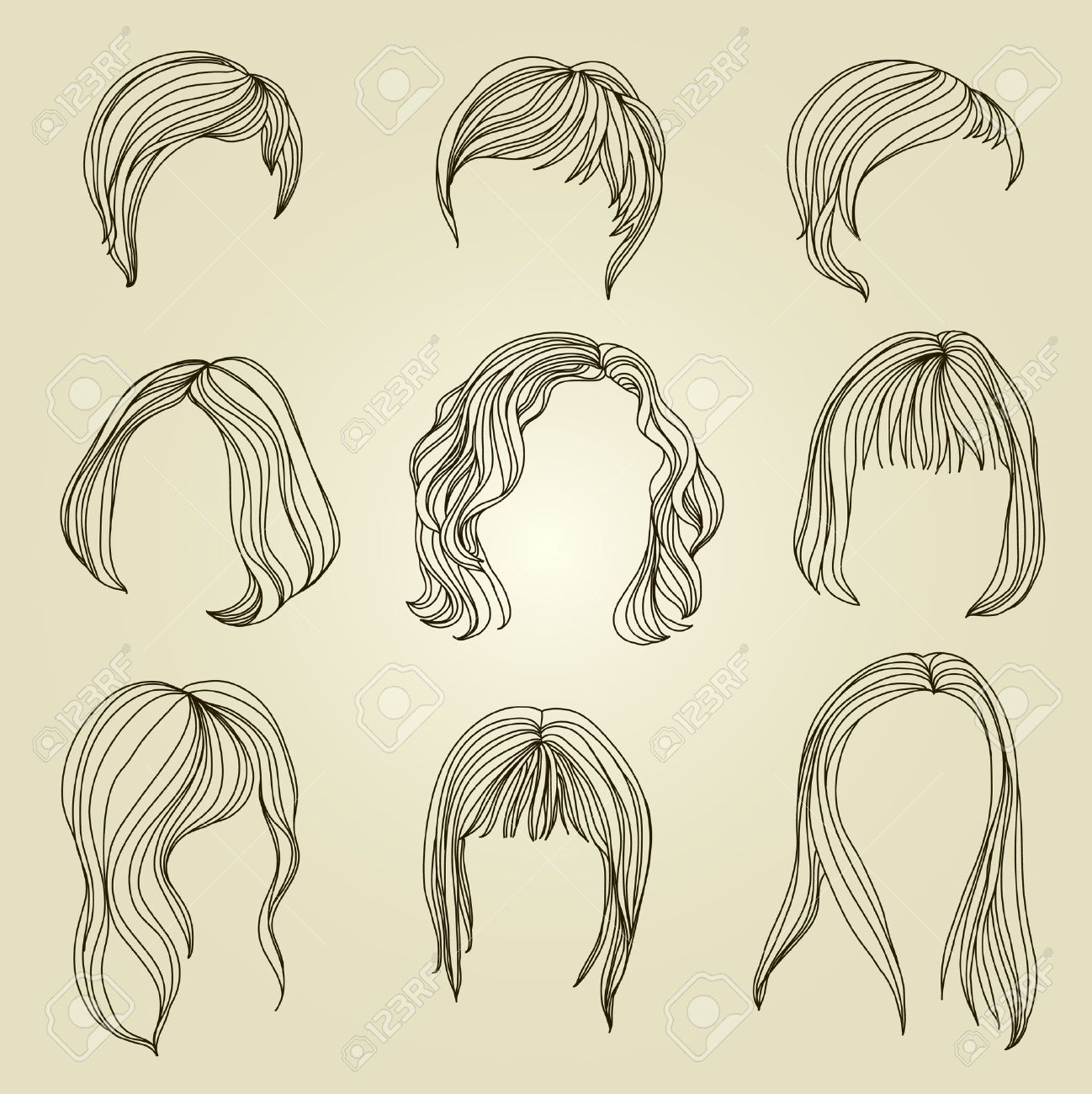Set of hair styling for woman Stock Vector - 9931454
