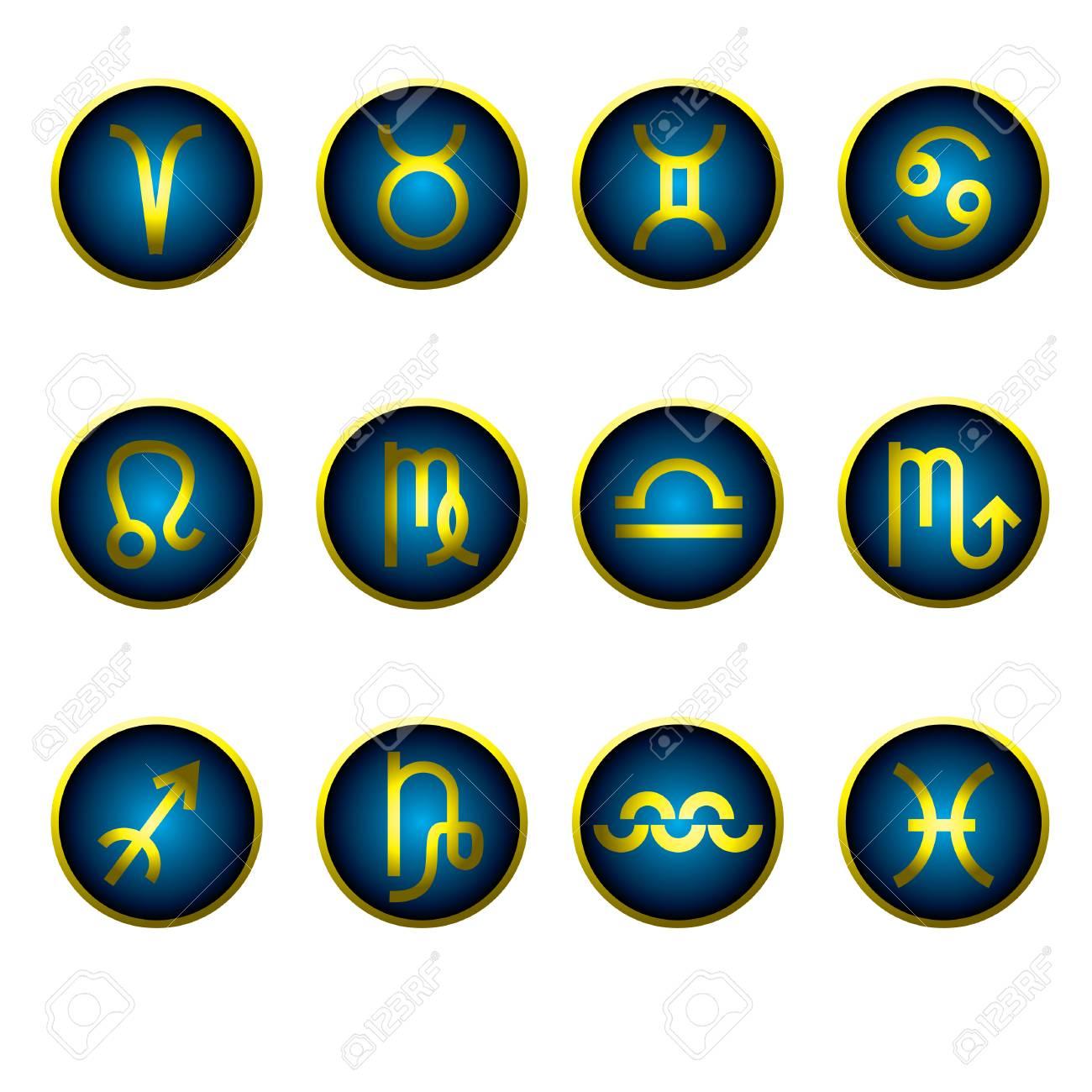 Wunderbar Jungfrau Element Galerie Von Satz Von Gradienten Zodiac Icons - Designelement: