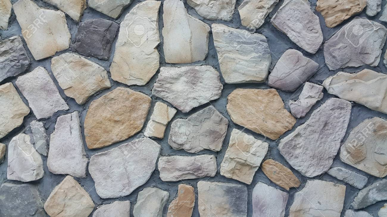 Sheet Rock Walls A Circular Pattern Of Modern Style Design Stone