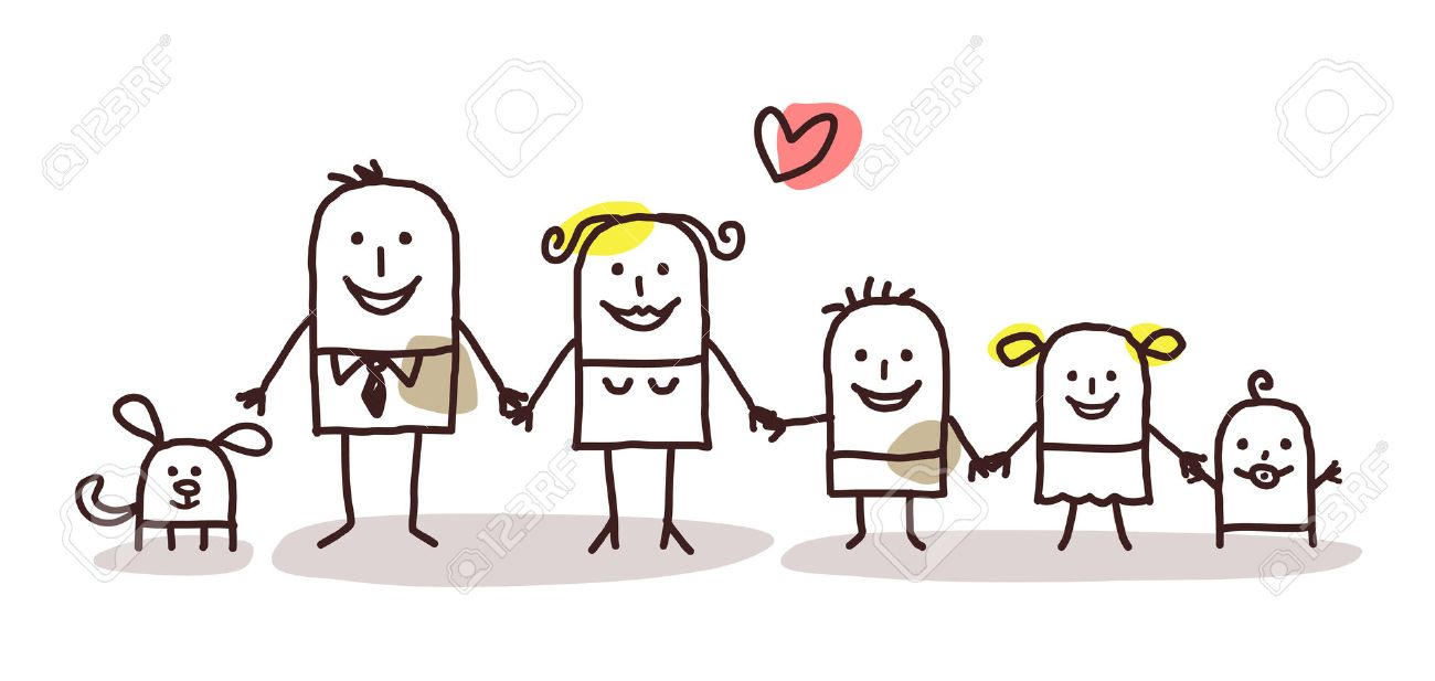 cartoon family stock photo picture and royalty free image image rh 123rf com cartoon family pictures free download cartoon family pictures clip art