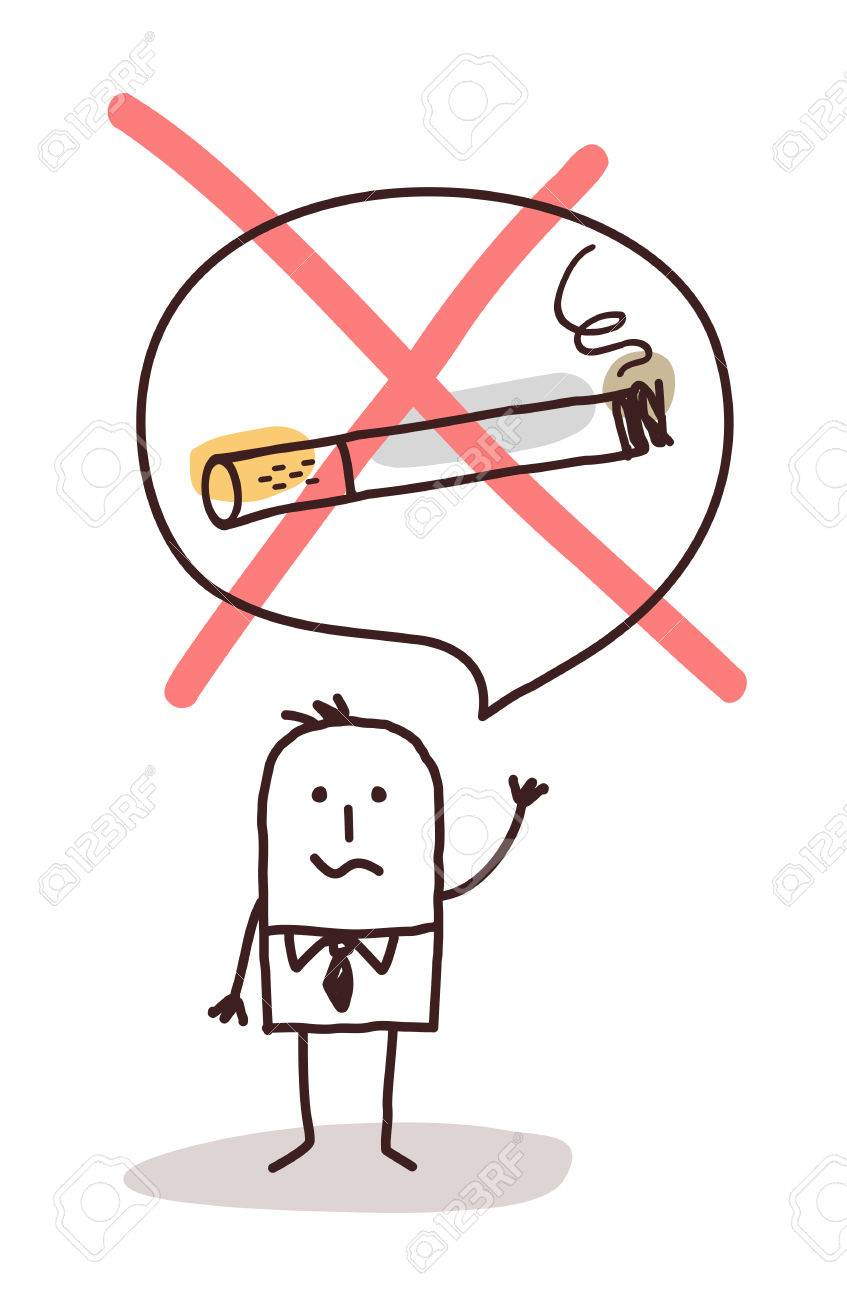 Cartoon Man Who Wants To Stop Smoking Stock Photo Picture And Royalty Free Image Image 52571868
