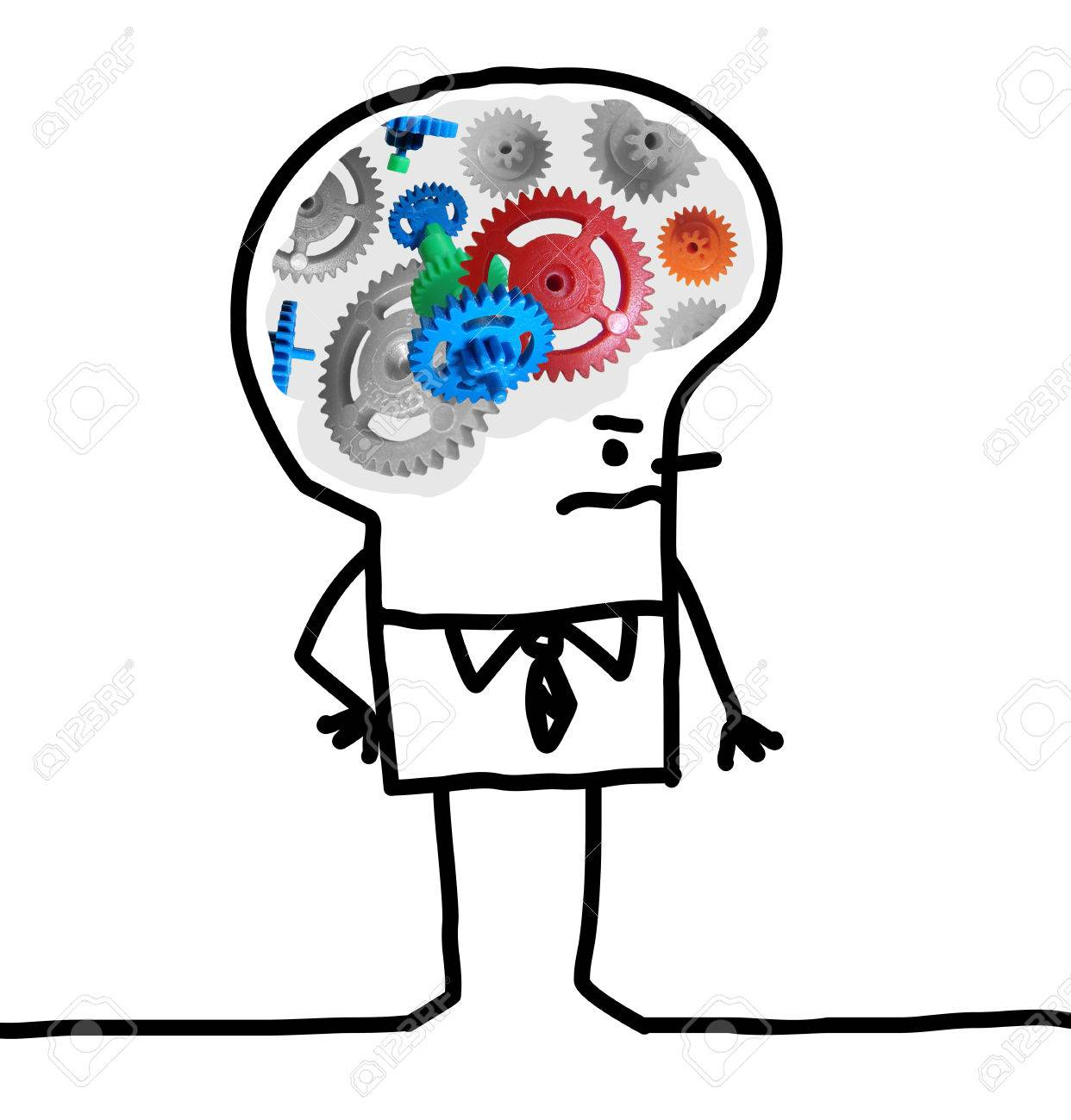 Cartoon big brain man gear and concept stock photo picture and cartoon big brain man gear and concept stock photo 72920555 thecheapjerseys Gallery