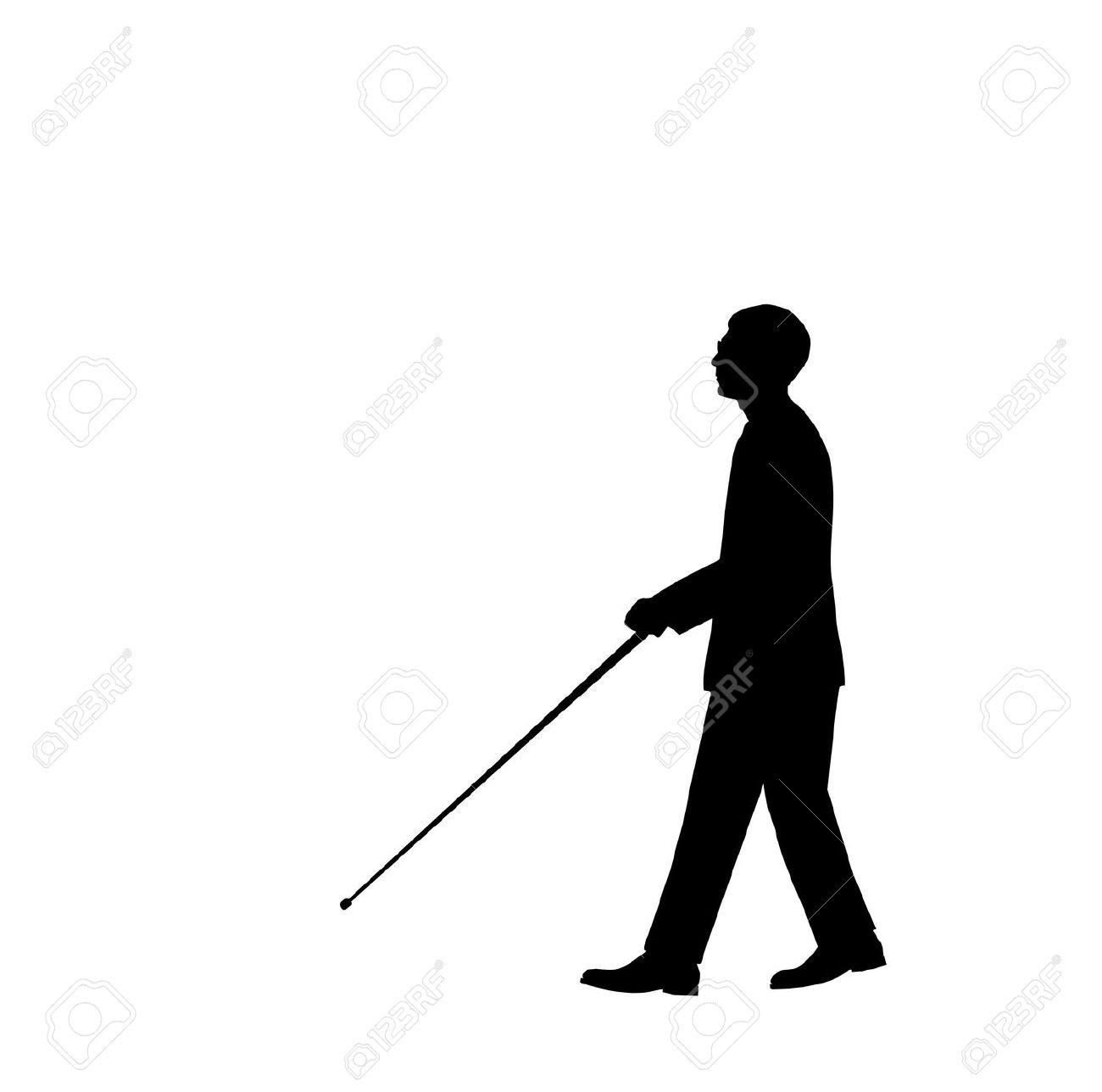 Blind Man Silhouette - 6851950