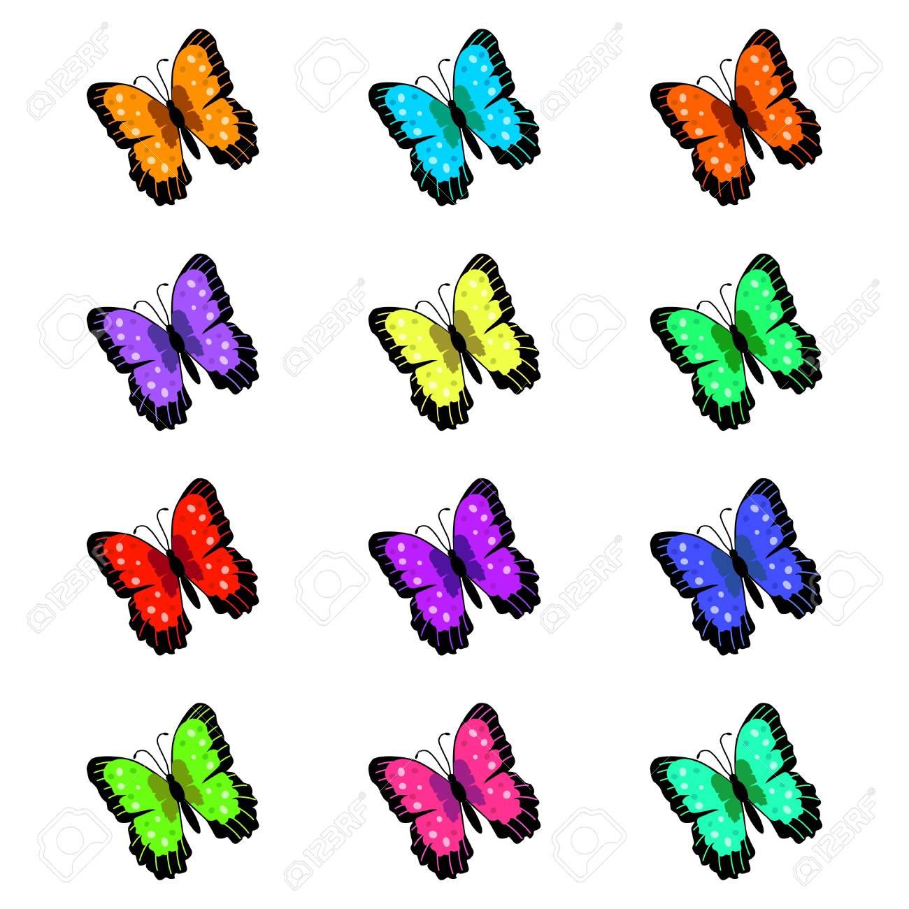 Butterflies Illustration Stock Photo - 6852088