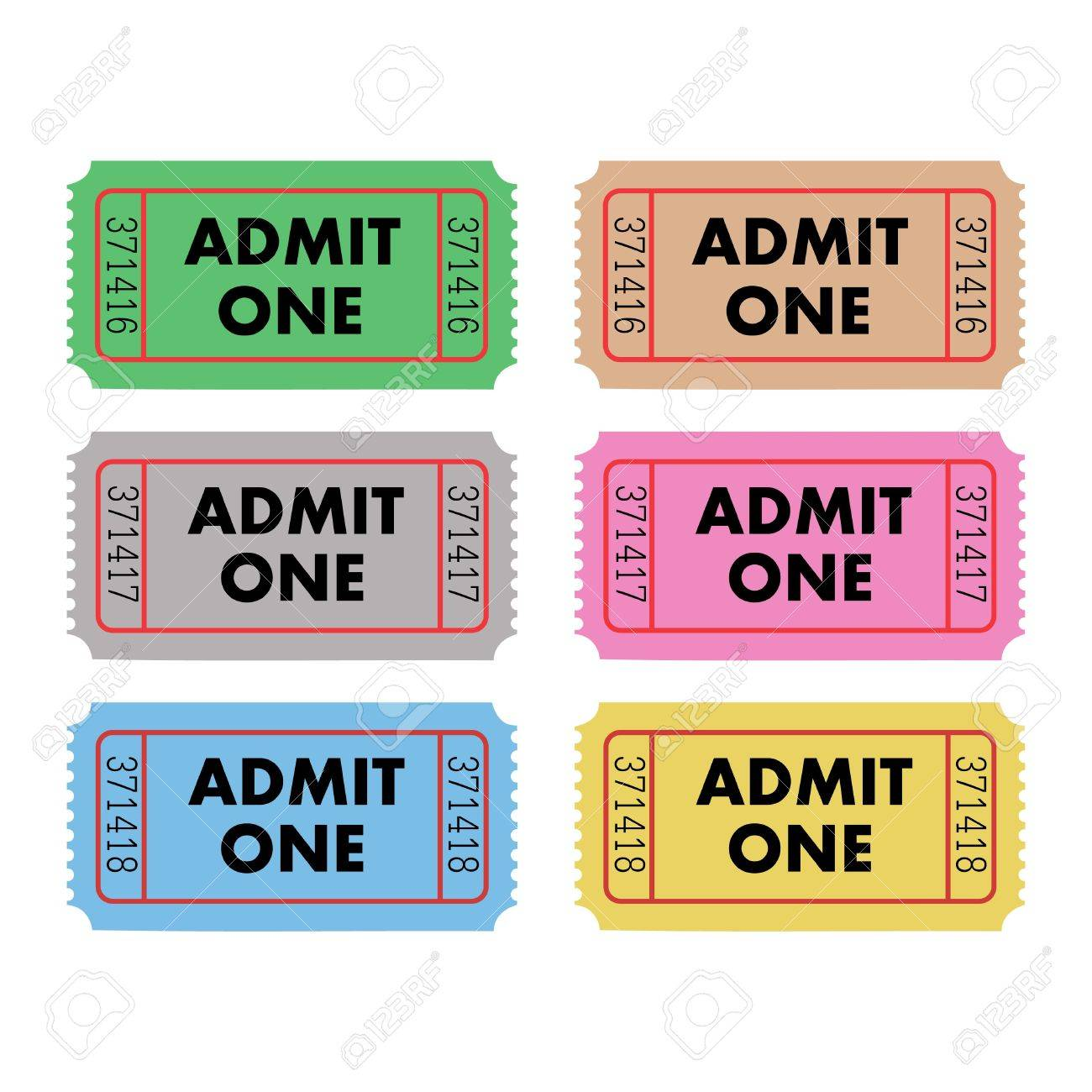 ticket admit one template – Ticket Admit One Template