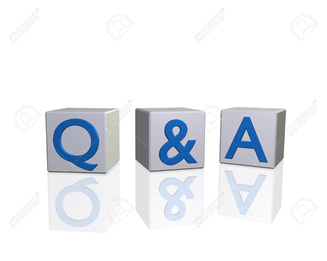 image of q a questions and answers on d blocks isolated on image of q a questions and answers on 3d blocks isolated on a white background
