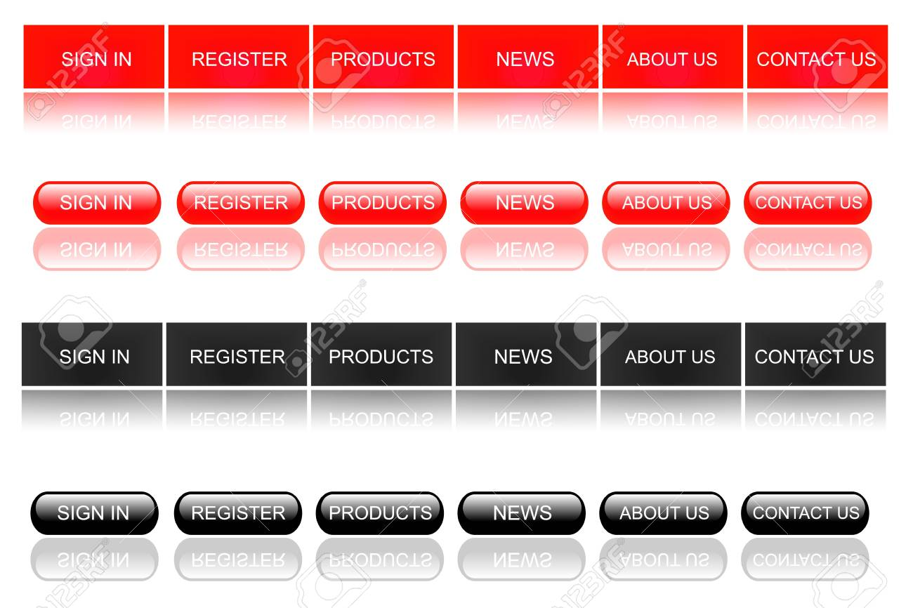 Red Web Buttons Stock Photo - 7141633