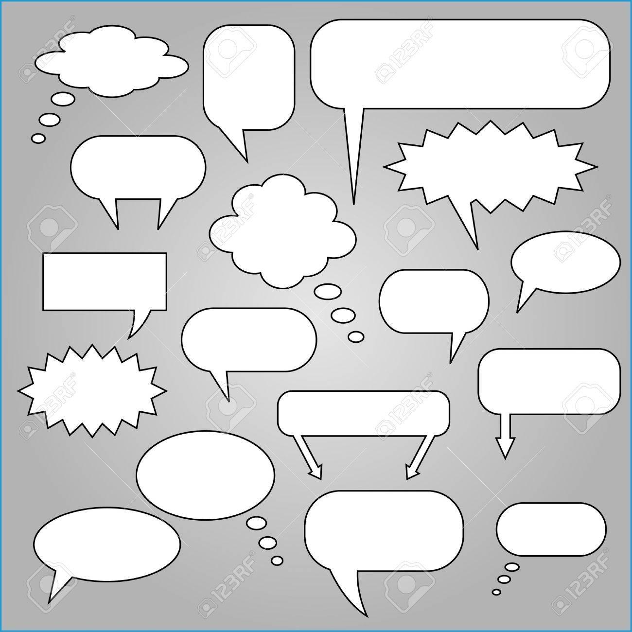 Comic Speech Chat Bubbles Stock Vector - 7253168