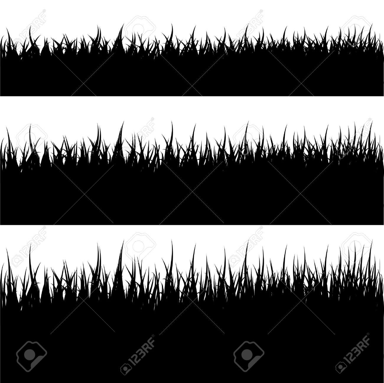 Grass Outline Vector Grass Silhouette stock vector