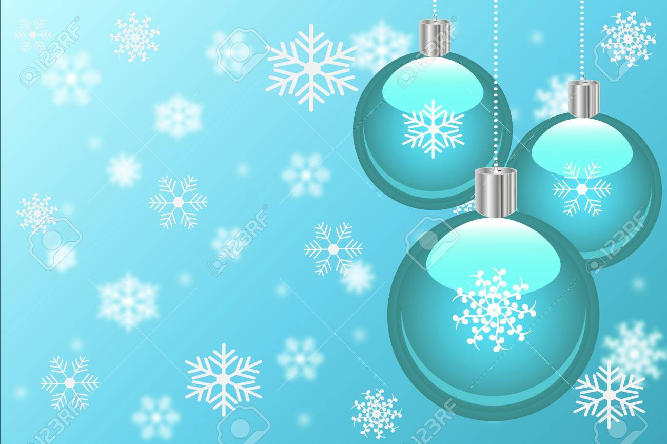Christmas background with ornaments and snowflakes. Stock Photo - 7397756