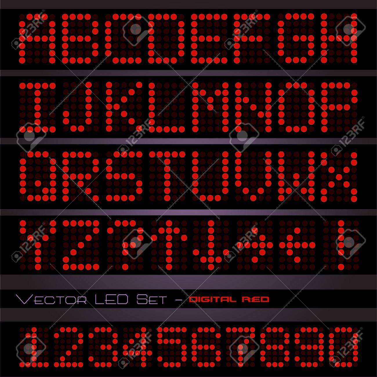 Image of a red digital text on a dark background. Stock Photo - 10470620
