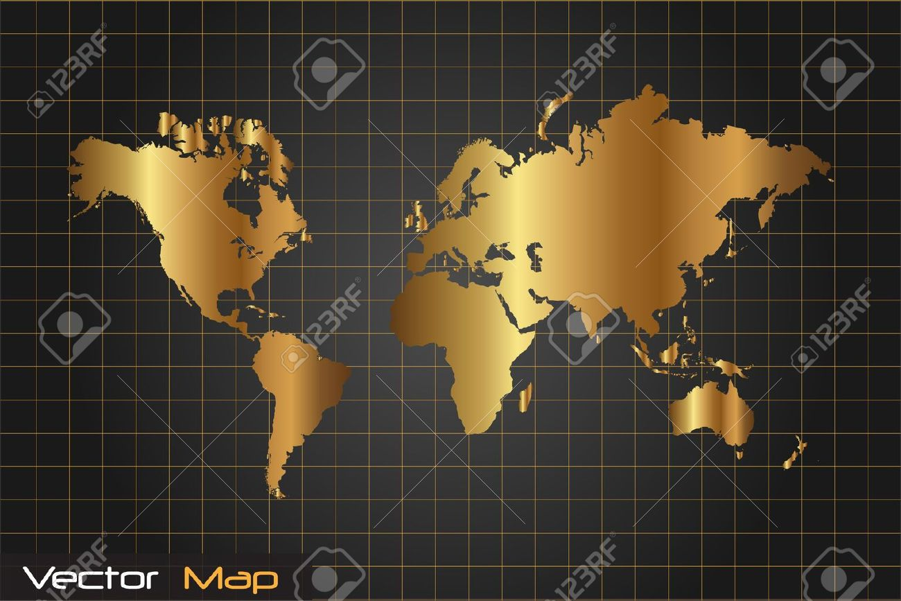Image of a gold and black world map vector illustration image of a gold and black world map vector illustration foto de archivo 14921090 gumiabroncs Choice Image