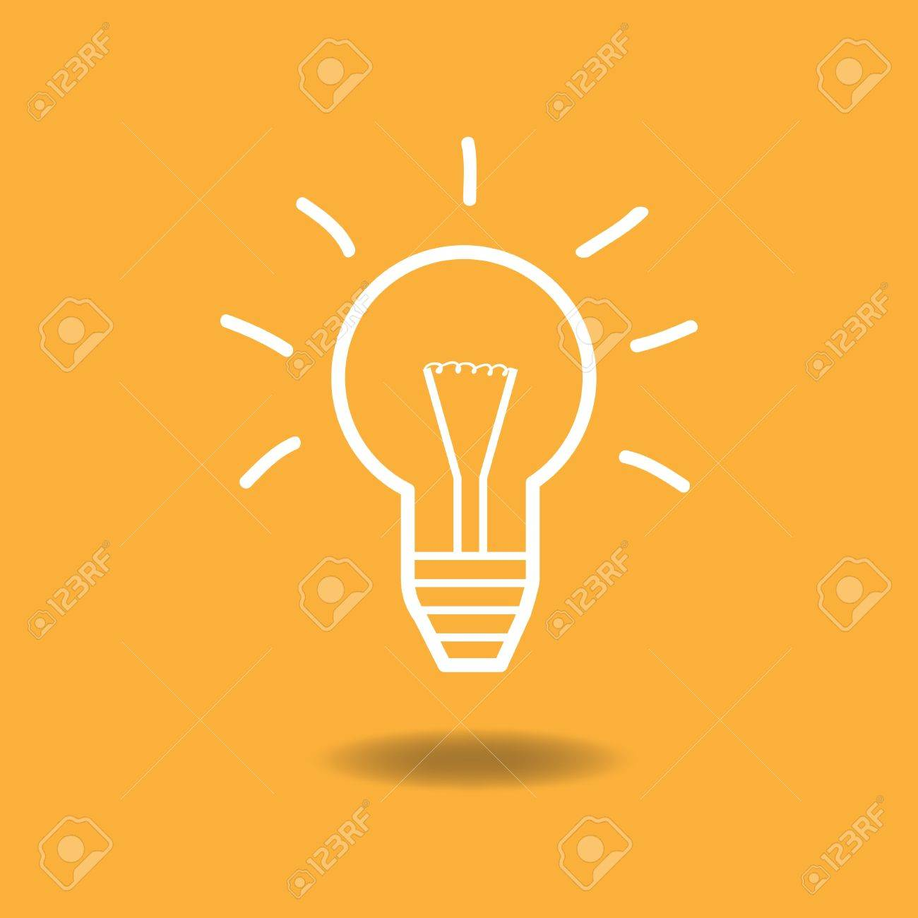 Image Of A Lightbulb Idea Illustration Against A Colorful Background. Stock  Vector   14921059