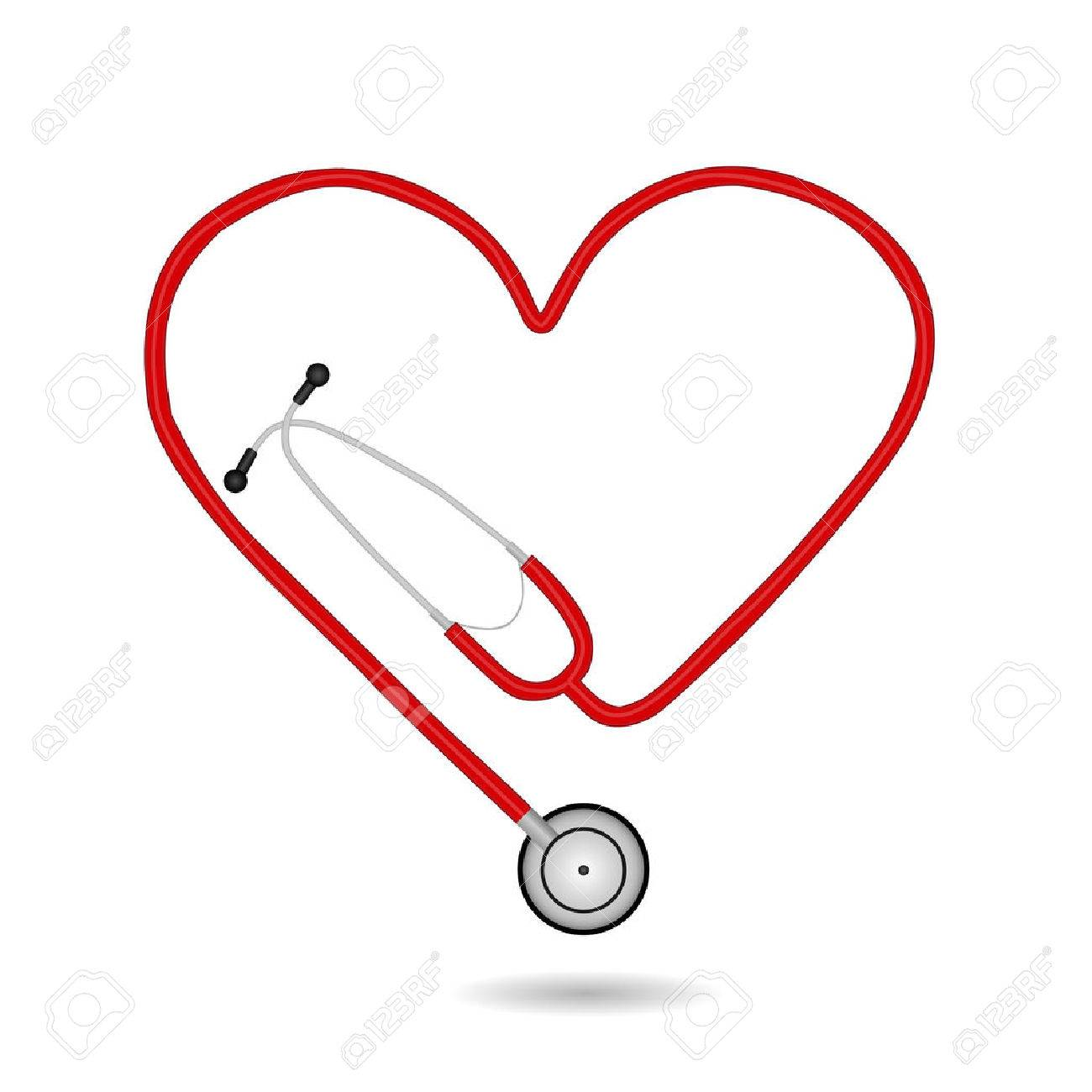 Image of a medical stethoscope isolated on a white background. - 26168743
