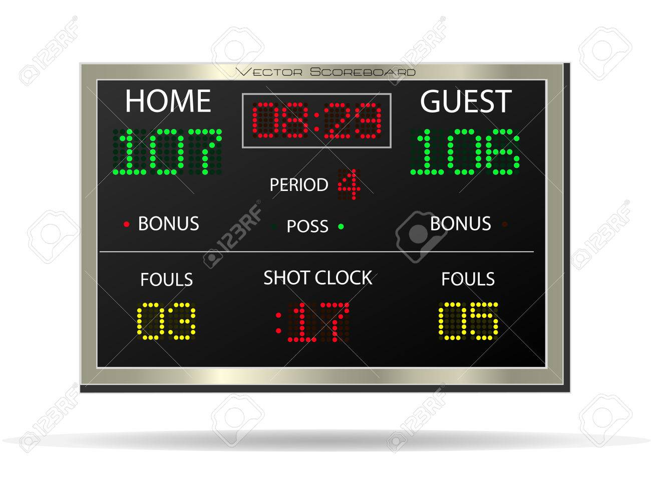 Image of a vector scoreboard isolated on a white background. - 26168781