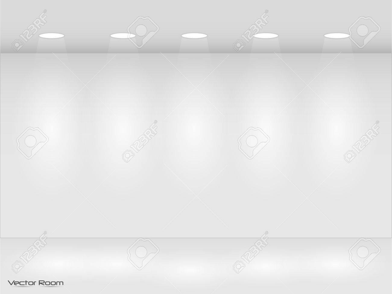 Illustration of room with lights. - 27194886