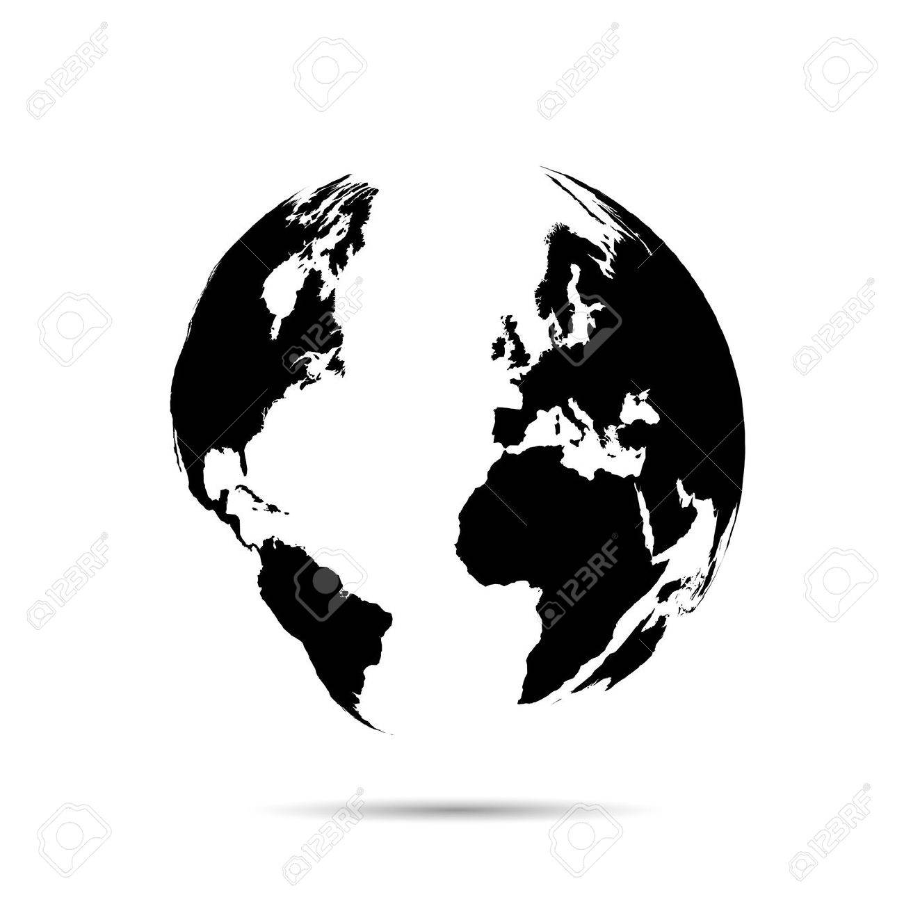 Illustration of a world map isolated on a white background. - 29340462
