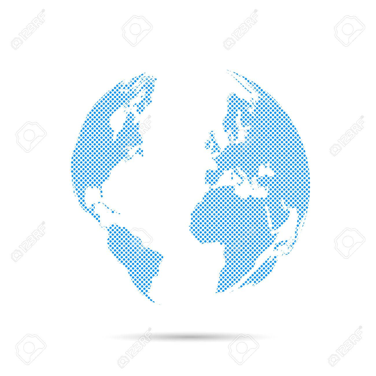 Illustration of an abstract world map design royalty free cliparts illustration of an abstract world map design stock vector 29340732 gumiabroncs Image collections